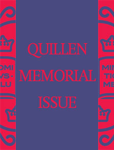Quillen Memorial Issue cover