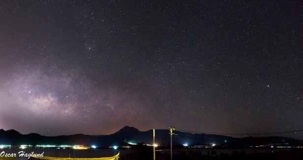 9 image panorama of the milky way outside of Lijiang, Yunnan, China. (a6000 + 35mm f1.8)