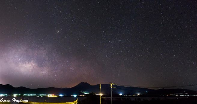 9 image panorama of the milky way outside of Lijiang, Yunnan, China. (a6000 + 35mm f1.8)