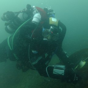Chris Stevens diving SS Treveal - picture by Anthony Hayes