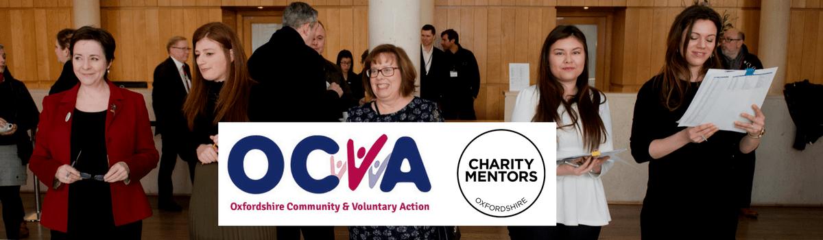OCVA and Charity Mentors logos