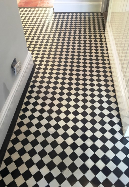 Victorian Tiled Floor After Cleaning Oxford