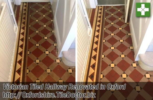 Victorian Tiled Hallway Before and After Renovation Oxford