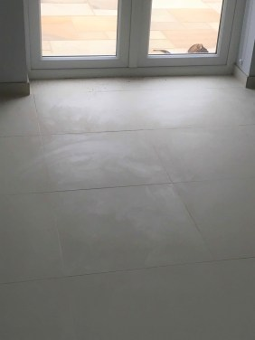 Epoxy Grout Before Removal From Porcelain Tiles Banbury