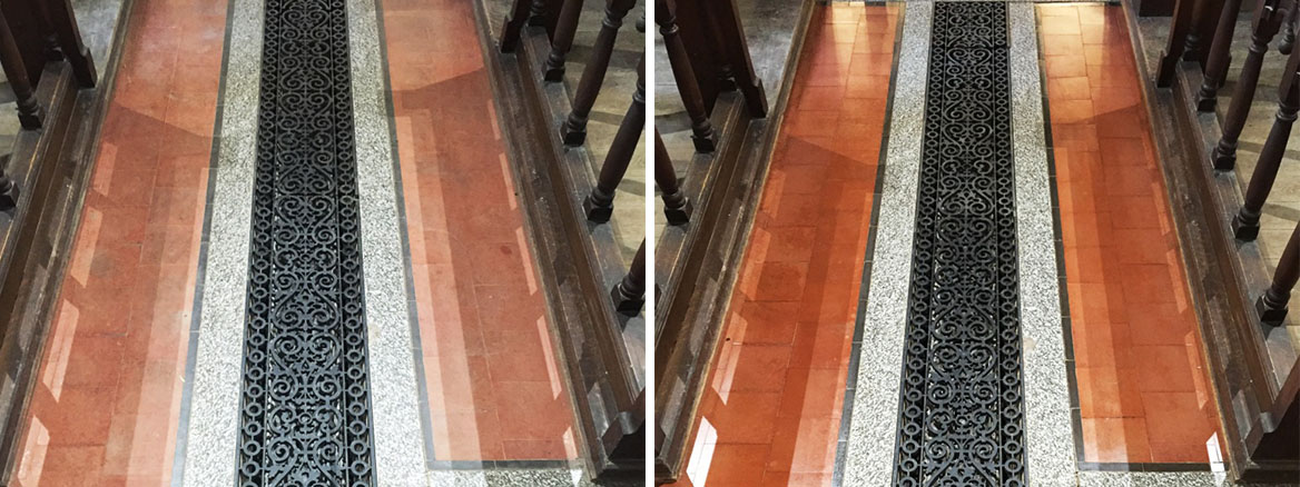 12th Century Church Tiled Floor Wantage Before After Renovation