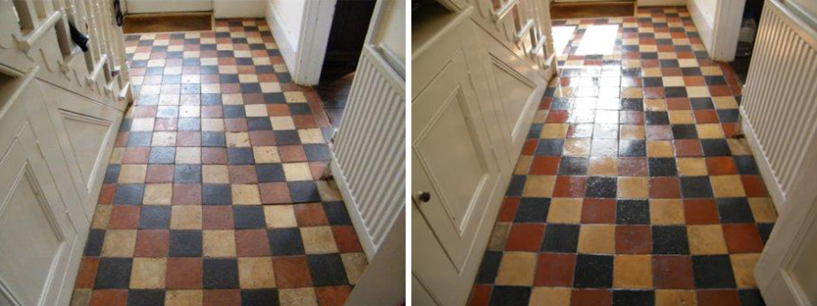 Quarry Tiled Hallway Restoration