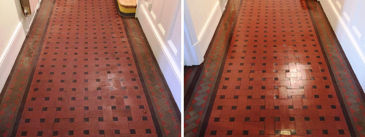 Victorian Tiled Hallway Oxford Before After Cleaning
