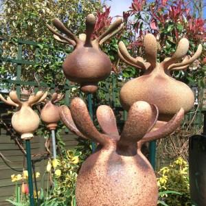 Ceramic Poppy Heads by Alison Jones