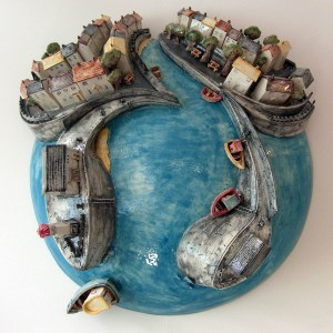 Harbour sculpture by Alison Jones