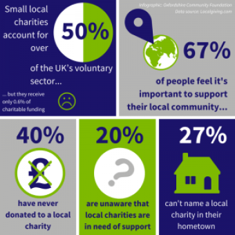 Small charity infographic