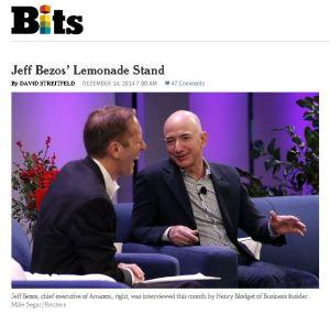 Bezos em recente entrevista na TV