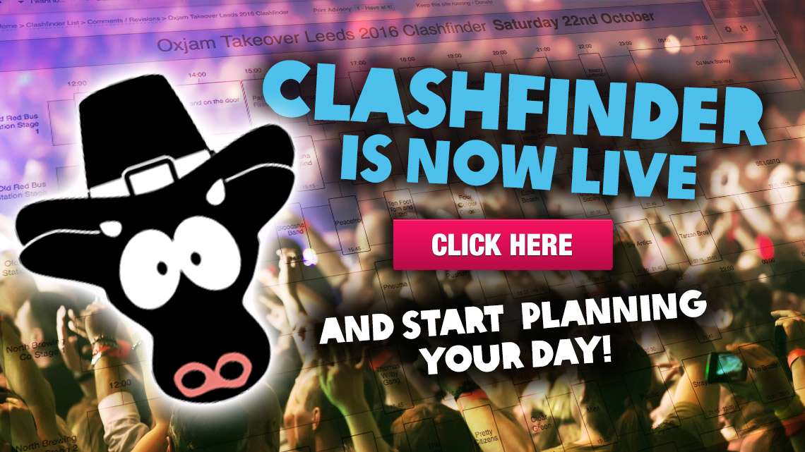 Oxjam Leeds Clashfinder Live!