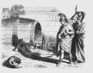 Alexander besucht Diogenes