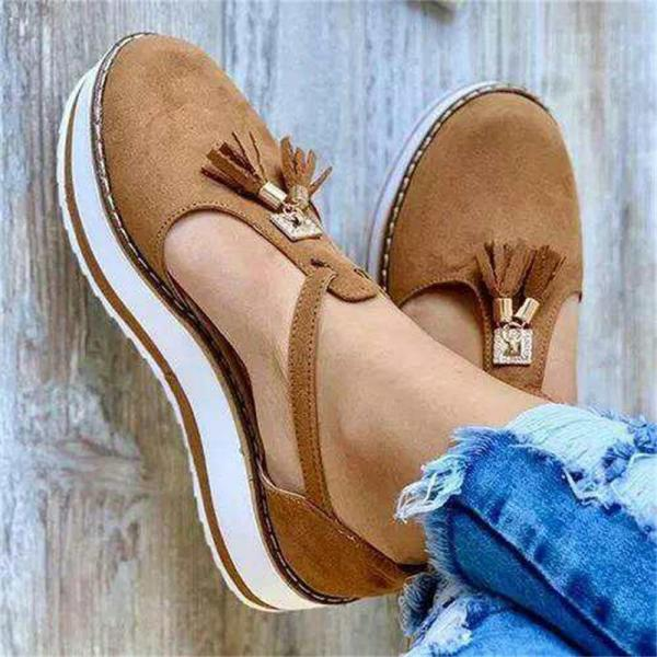 Women's Tassel Round Toe Flat Shoes 2020 Spring Summer New Ladies Platform Casual Shoes Dress Party Cute Female Vulcanized Shoes