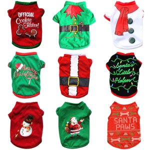 Christmas Dog Clothes New Year Pets Dogs Clothing For Small Medium Dogs Costume Chihuahua Pet Shirt Warm Dog Clothing Yorkshire