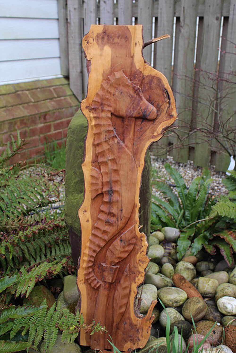Sea Horse in Yew