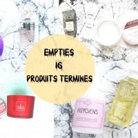 Empties // Produits terminés #16