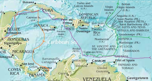20180515 carte Caraïbes Site Oxygen