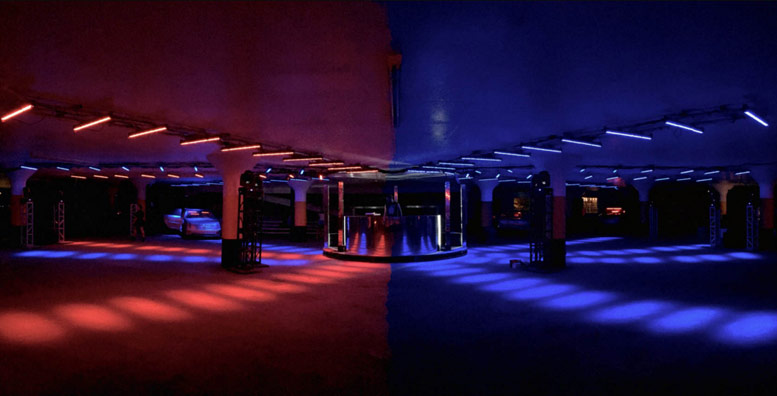 Parking Garage Interior for Dance Party
