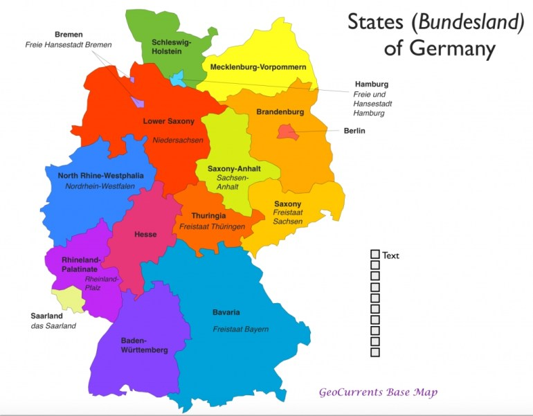 2 with regard to Map Of Germany With States And Major Cities