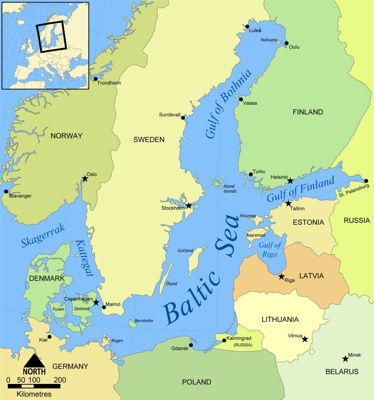 Baltic Region - Wikipedia pertaining to Map Of Countries Surrounding Germany