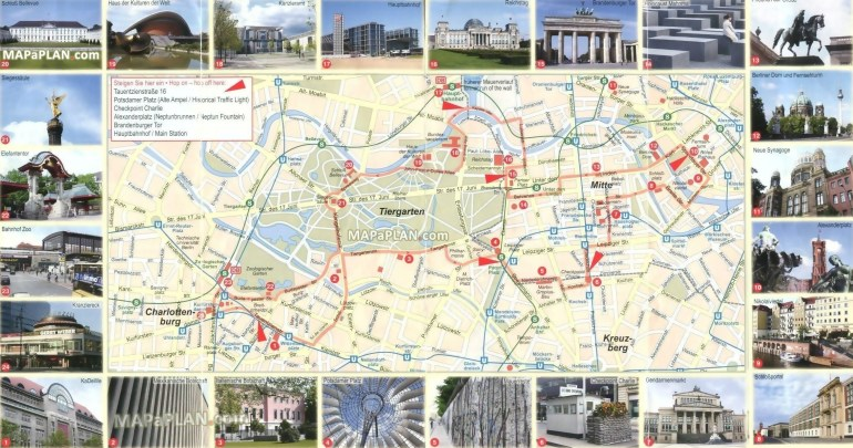 Berlin Germany Attractions Map » Oxyi Map