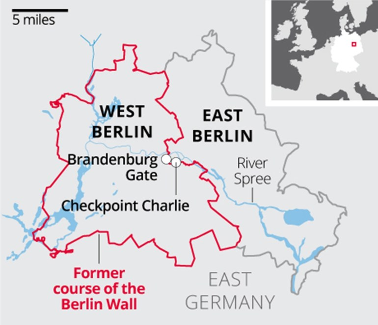 Berlin Wall: What You Need To Know About The Barrier That Divided inside Map Of Germany Divided Into East And West