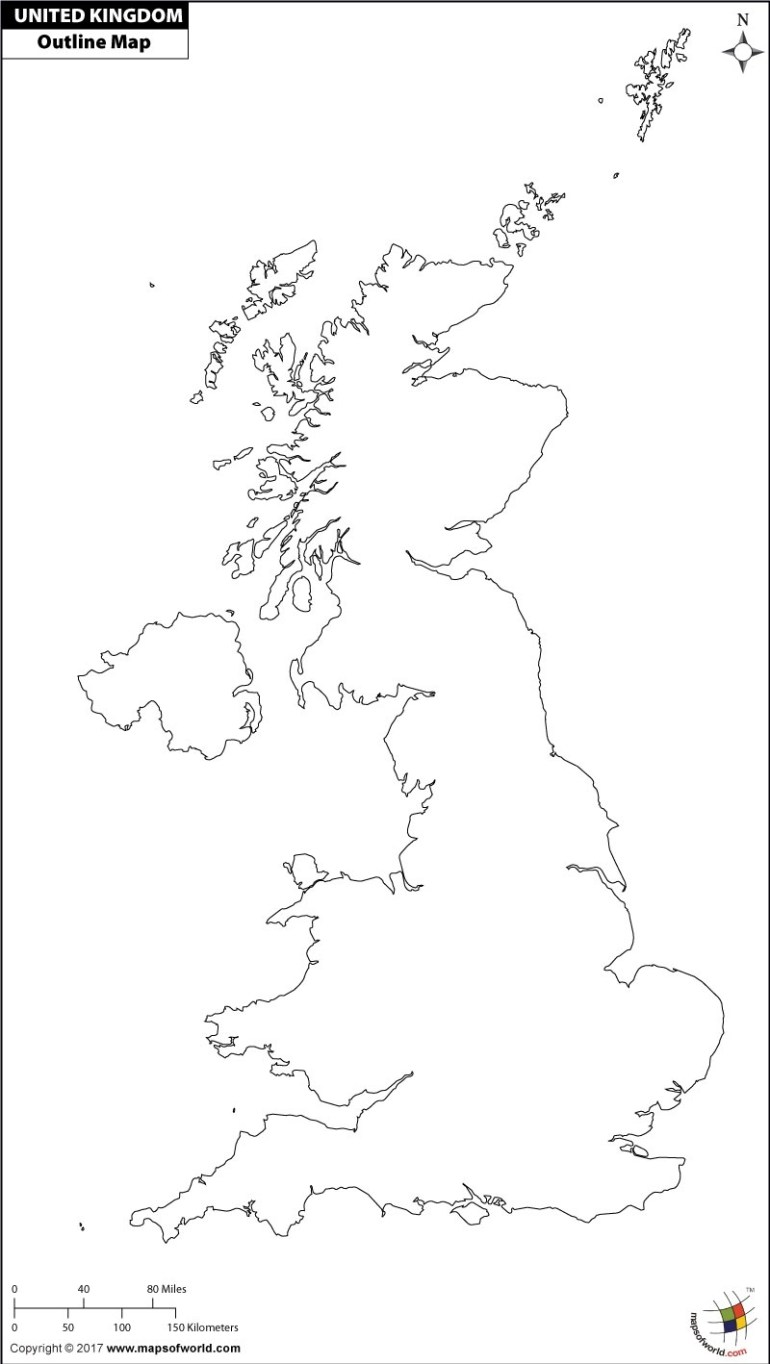 Blank Map Of Uk | Outline Map Of Uk regarding Empty Map Of Germany