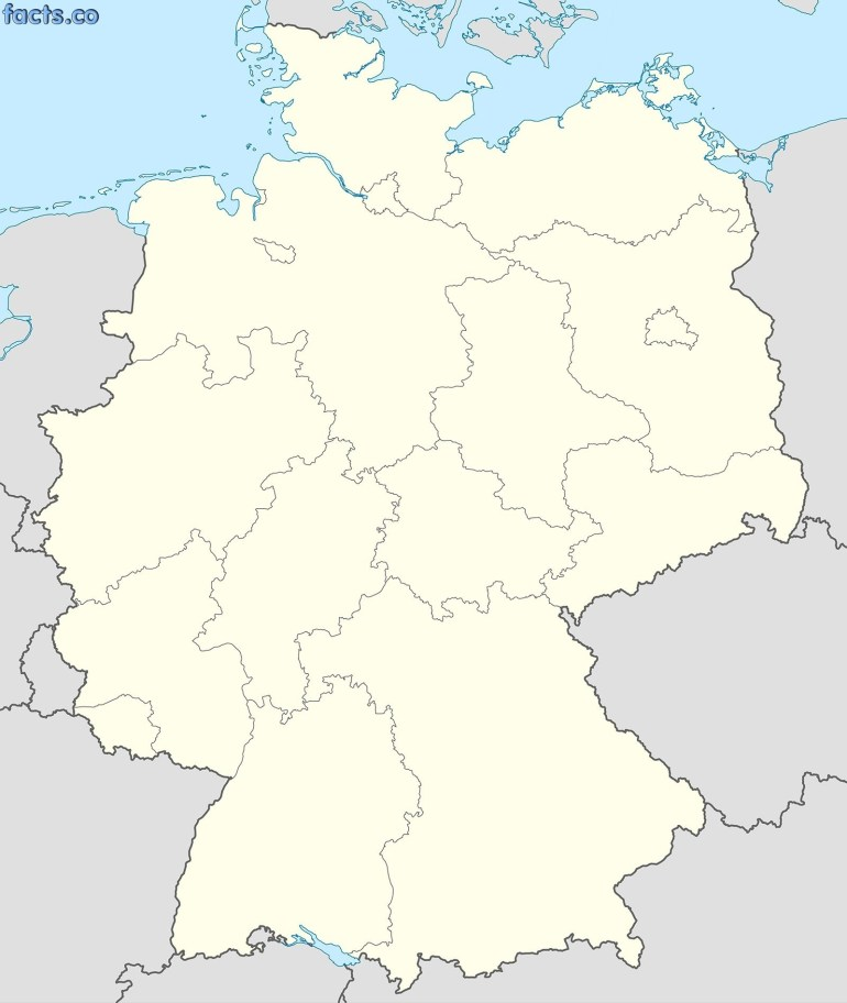 Blank Physical Map Of Germany Germany Political Map Black And White with regard to Blank Map Of Germany And Surrounding Countries
