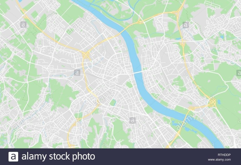 Bonn, Germany Printable Street Map In Classic Style Colors With All within Street Map Of Bonn Germany