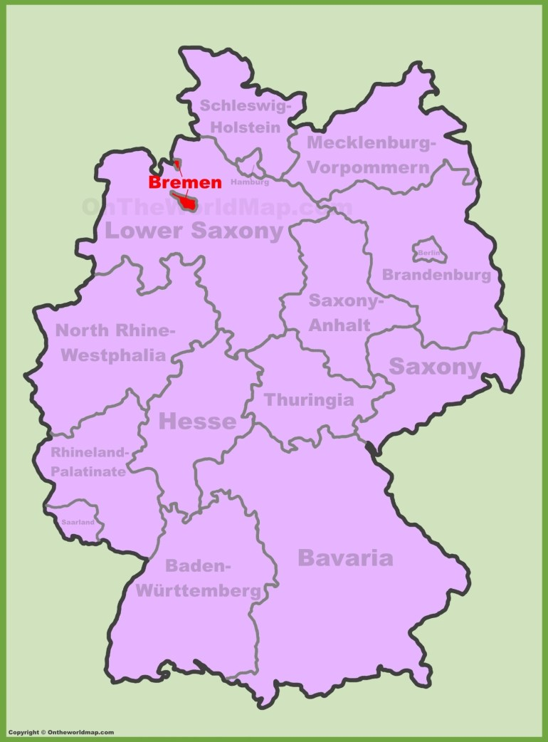 Bremen Location On The Germany Map in Bremen On Map Of Germany