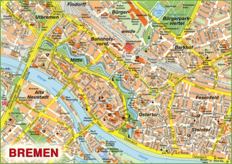 Bremen Maps | Germany | Maps Of Bremen with Bremen On Map Of Germany