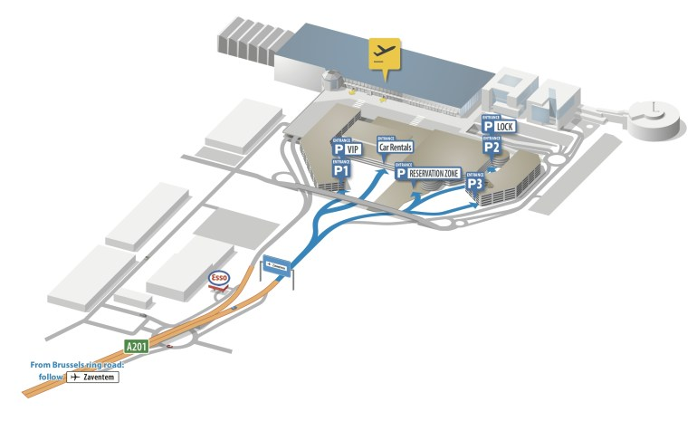 Brussels Airport Map – Zaventem | Bruxx intended for Ryanair Airports Germany Map
