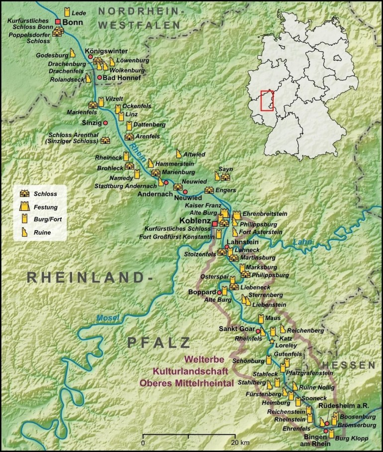 Castles Of The Rhine Valley | Travel Bucket List | European Travel within Rhine Valley Germany Map