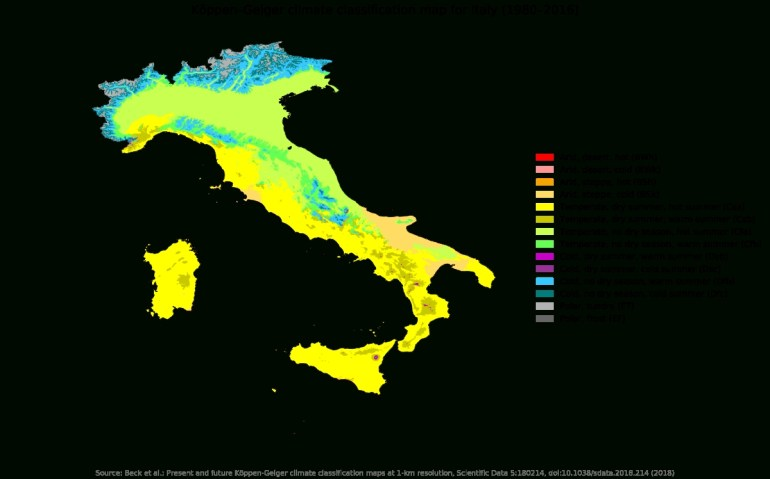 Climate Of Italy - Wikipedia intended for Germany Climate Zone Map