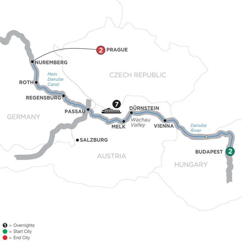 Danube River Cruise - Avalon Waterways® within Map Of Danube River In Germany