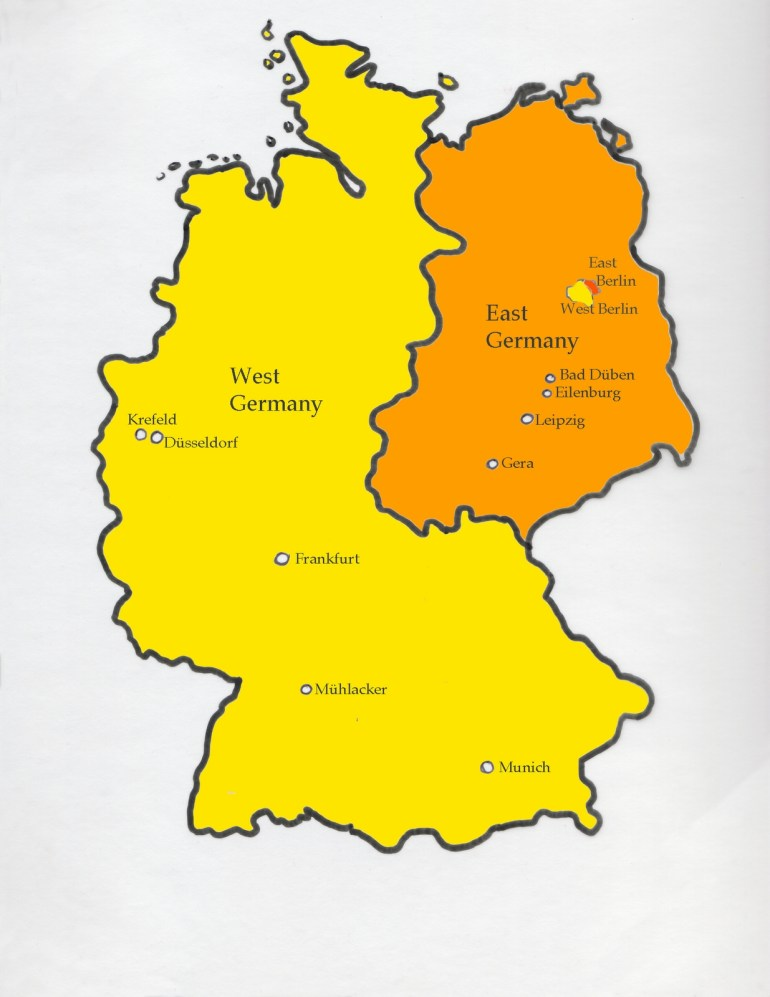 Dreaming In German: Map Of Divided Germany with East West Germany Map