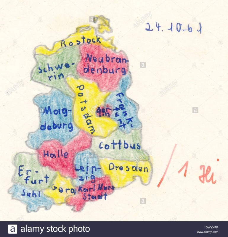 East Germany Stock Photos & East Germany Stock Images - Alamy in Map Of East Germany 1950