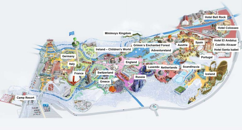 Europa-Park Germany Map Related Keywords & Suggestions - Europa-Park intended for Europa Park Rust Germany Map
