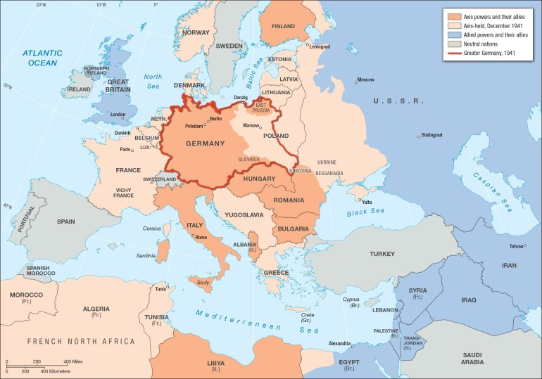 Europe In Germany's Grasp | Facing History And Ourselves intended for Map Of Germany Before And After Ww2