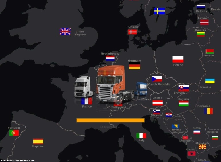 European Merlinata Map V7.0 Gts | Simulator Games Mods Download with regard to German Truck Simulator Europe Map