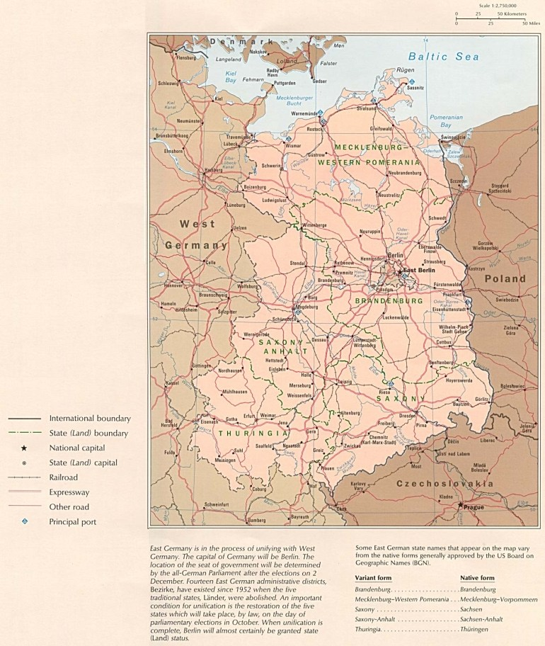 Former East Germany Political Map - Full Size   Gifex inside East Sea Germany Map