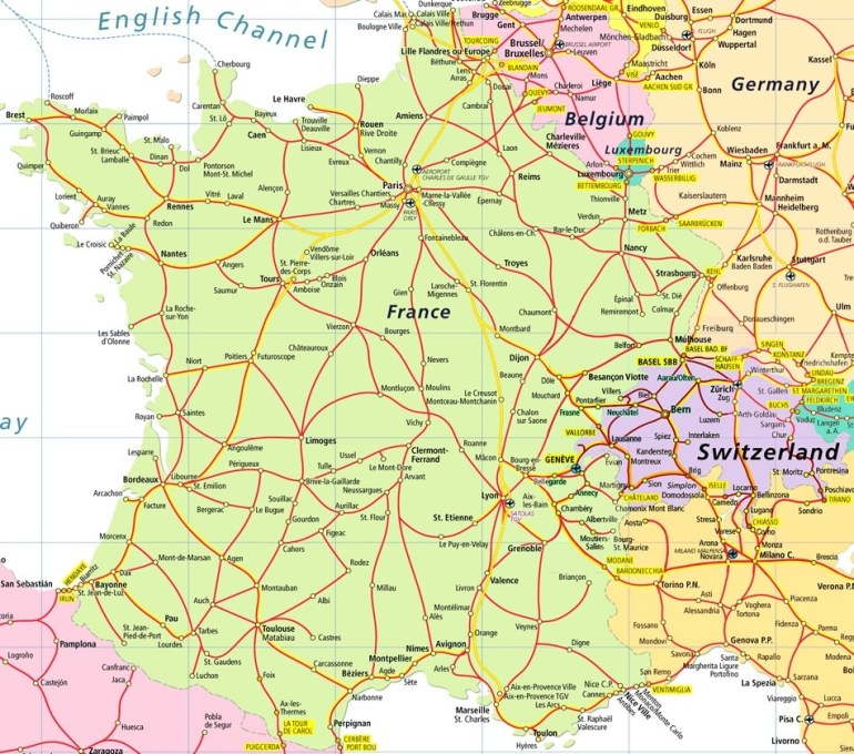 France And Germany Map And Travel Information | Download Free France throughout Map Of France Belgium And Germany