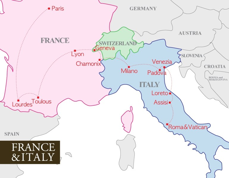 France And Italy Map - Recana Masana inside Map Of France Germany And Italy