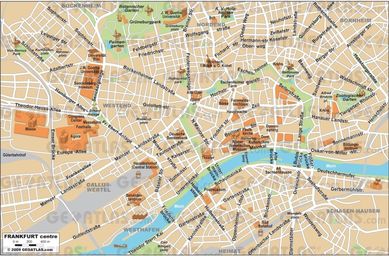 Frankfrut Map And Travel Information | Download Free Frankfrut Map in Tourist Map Of Frankfurt Germany