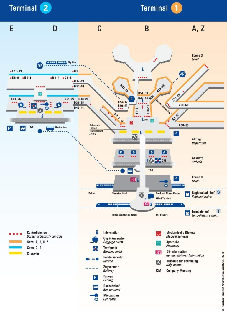 Frankfurt Airport Terminal Map intended for Map Near Frankfurt Germany