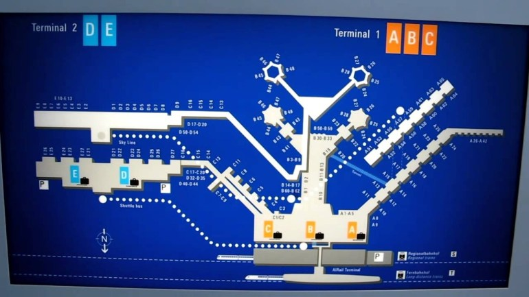 Frankfurt Germany Airport Map.mov within Frankfurt Germany Airport Map