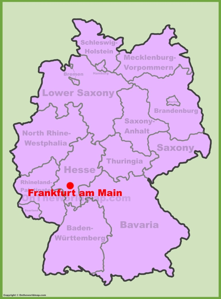 Frankfurt Maps | Germany | Maps Of Frankfurt Am Main in Map Near Frankfurt Germany