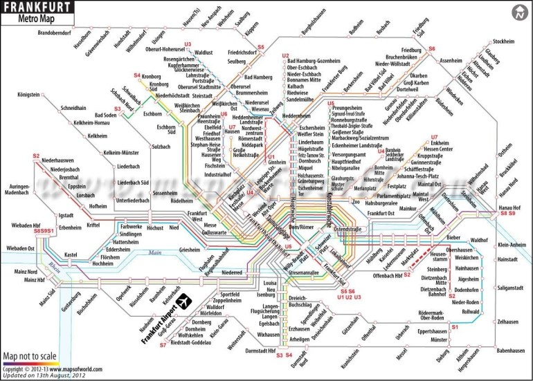 Frankfurt Metro Map | My Work | Train Station Map, Map, Frankfurt with Frankfurt Germany Train Map