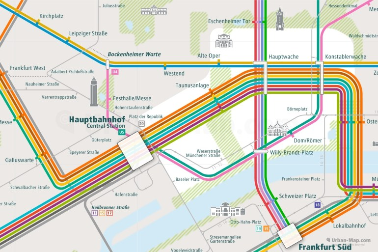 Frankfurt Rail Map - A Smart City Guide Map, Even Offline! pertaining to Frankfurt Germany Train Map